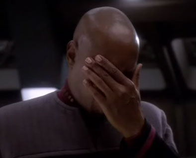 Sisko facepalm